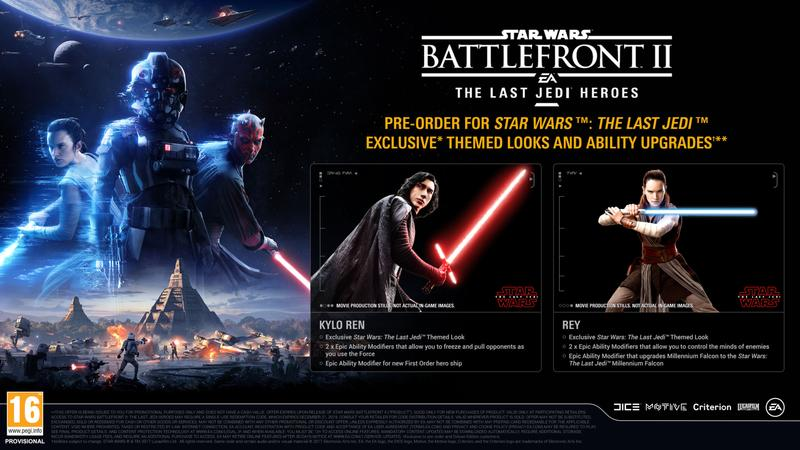 Star Wars Battlefront 2 Last Jedi costumes.